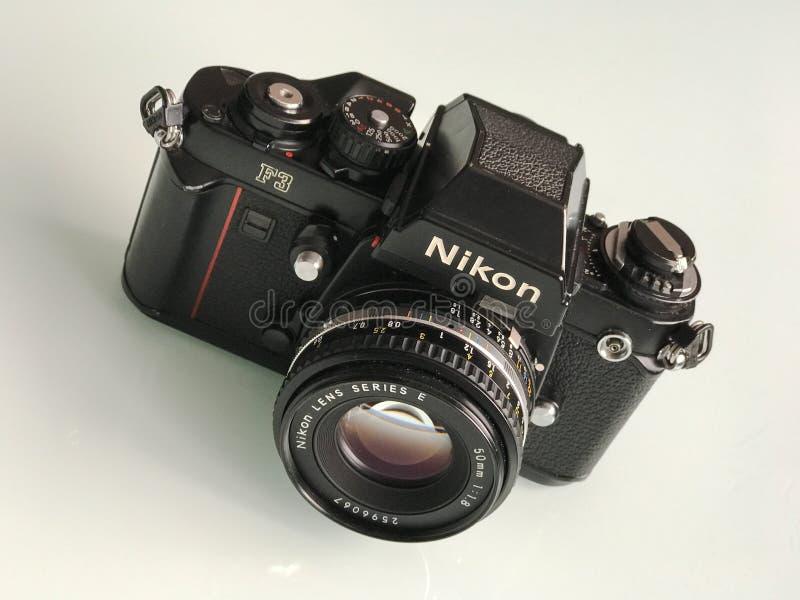 Kamera för film för Nikon F3 35mm SLR arkivbild