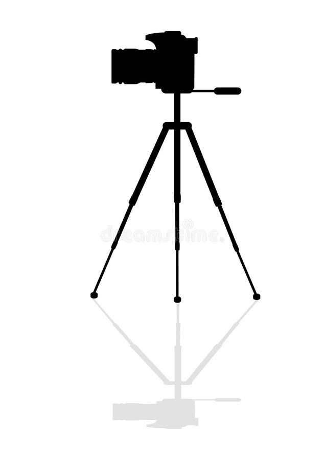 Kamera för Silhouette SLR stock illustrationer