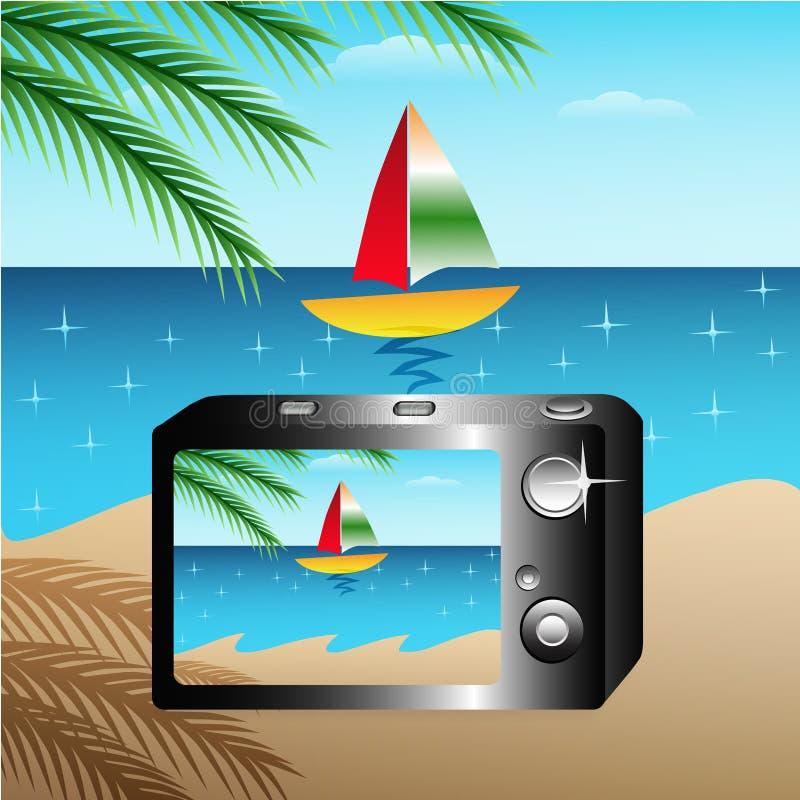 Kamera för sommar och vår royaltyfria foton