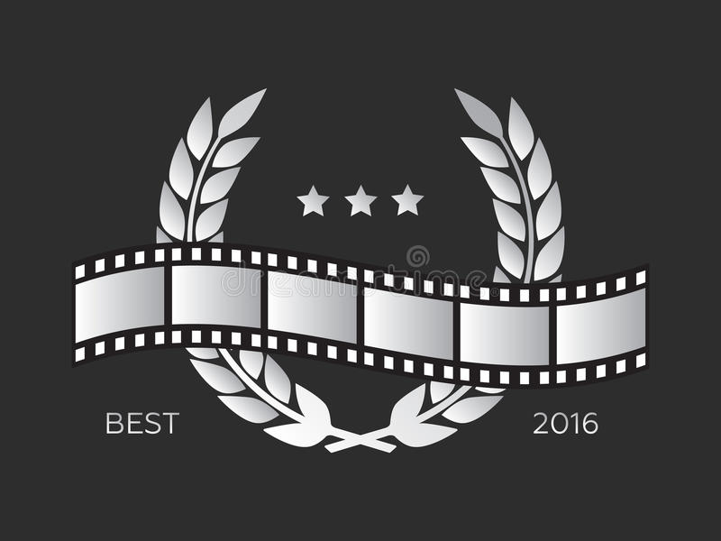 Kamera film 35 mm rolki złota, festiwalu filmu plakat royalty ilustracja