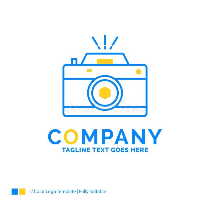Kamera, fotografia, zdobycz, fotografia, apertura Błękitny Żółty Busine ilustracja wektor