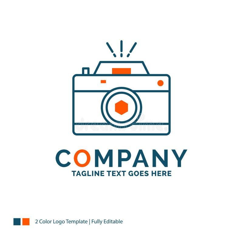 Kamera, fotografia, zdobycz, fotografia, apertura logo projekt błękitny royalty ilustracja