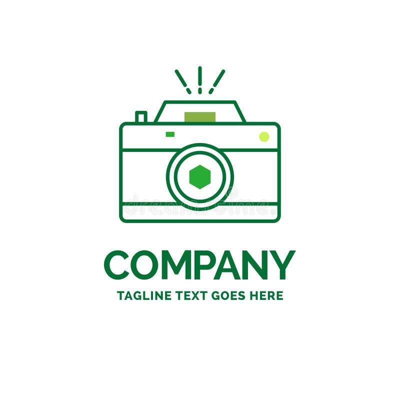Kamera, fotografia, zdobycz, fotografia, apertura Płaski Biznesowy logo ilustracja wektor
