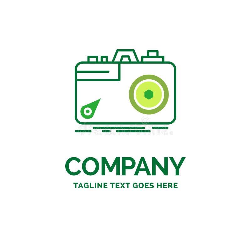 Kamera, fotografia, zdobycz, fotografia, apertura Płaski Biznesowy logo royalty ilustracja