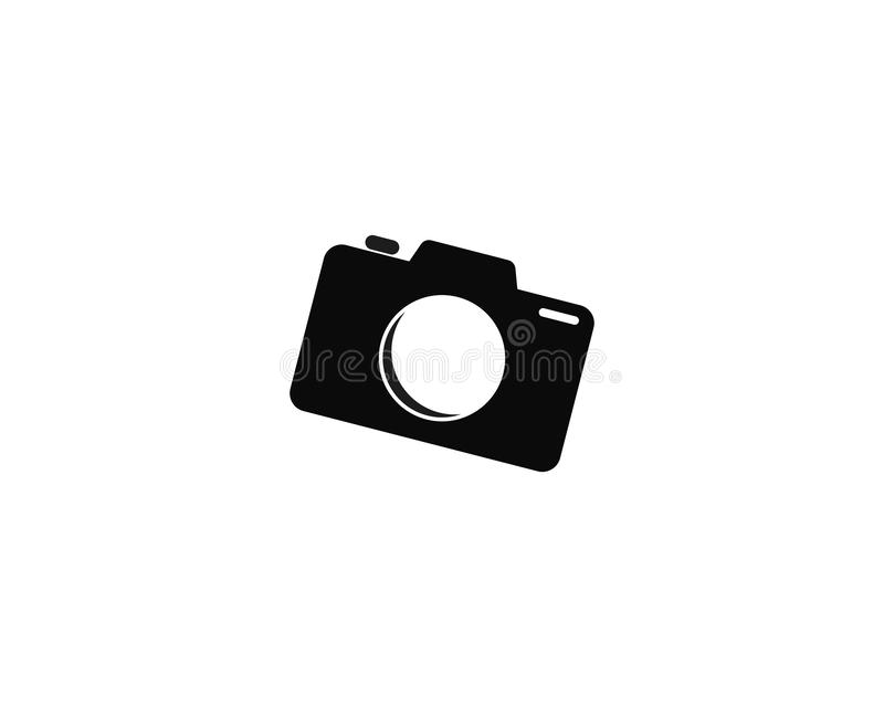 Kamera-Fotografielogoschablonenvektor-Ikonenillustration vektor abbildung