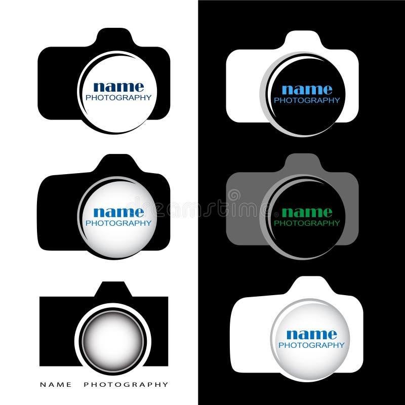 Kamera/fotografilogo som kan användas av fotografer eller studior royaltyfria foton