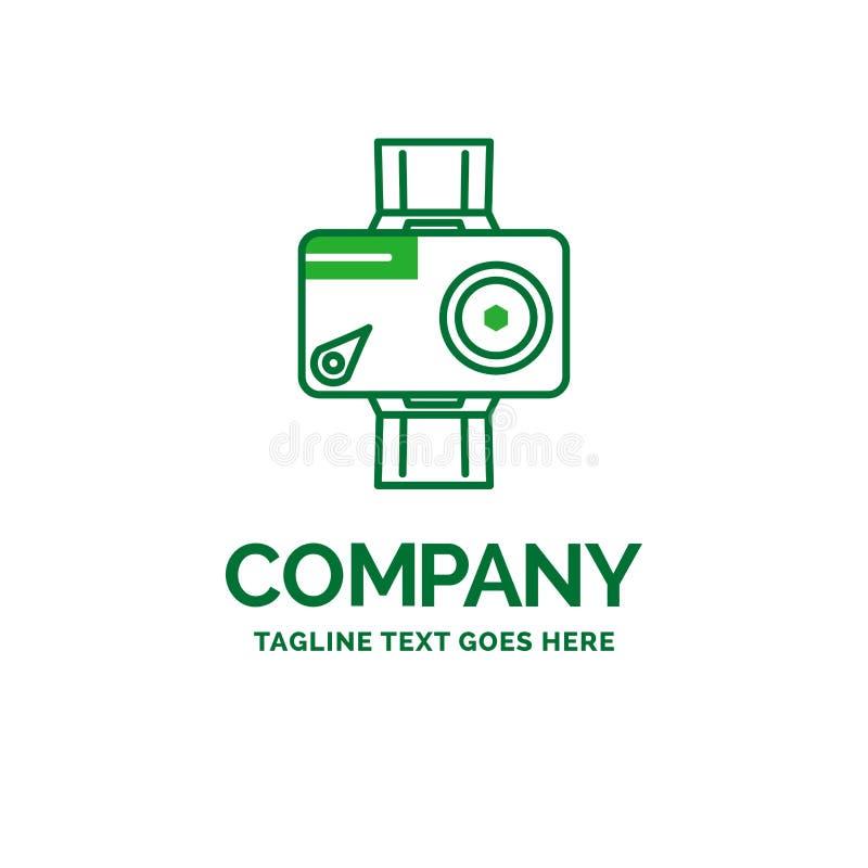 kamera handling, digitalt som är video, för affärslogo för foto plan templat royaltyfri illustrationer