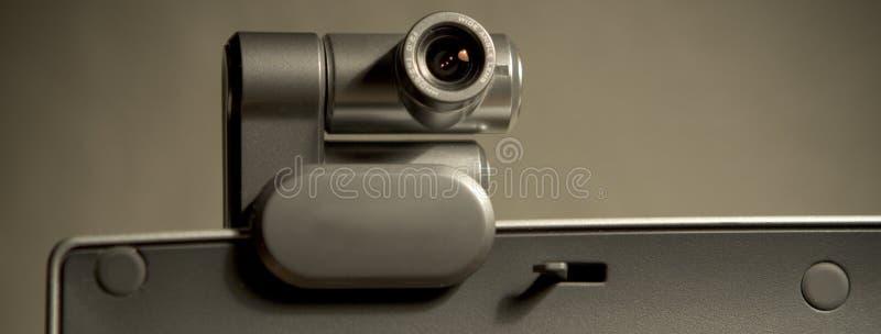 Kamera internetowa na Ekran Komputerowy A zdjęcie stock