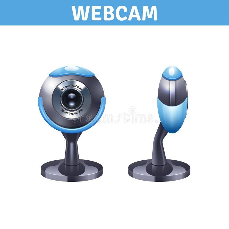 Kamera internetowa Realistyczny projekt ilustracji