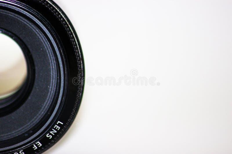 Kamera Lens, isolerad kamera Lens, tomt område för kamerafoto Lens, gammalt och använd royaltyfria foton