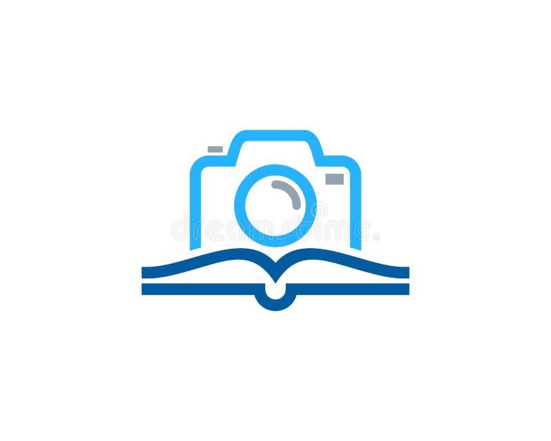 Kamera loga ikony Książkowy projekt royalty ilustracja