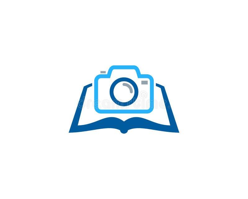 Kamera loga ikony Książkowy projekt ilustracji