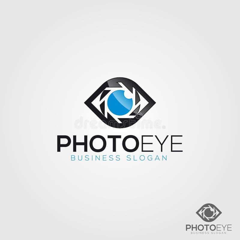 Kamera logo - fotografii oko royalty ilustracja