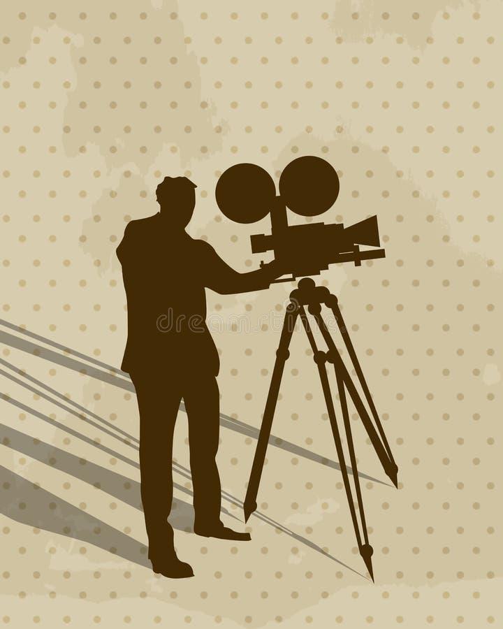 Kamera mężczyzna royalty ilustracja
