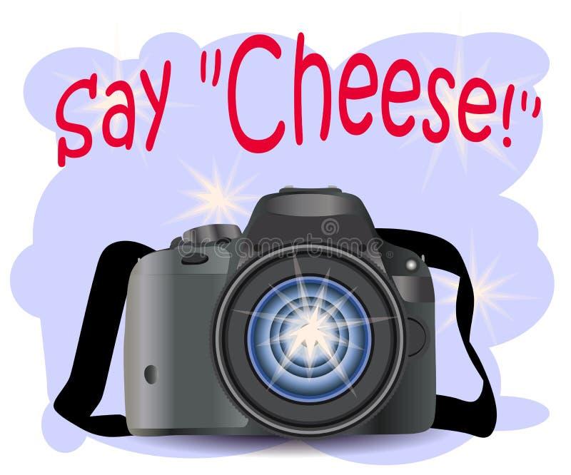 KAMERA mit Fotoikone, Fotografie, digitale Fotokamera mit Bildsymbol, Fotografausrüstung vektor abbildung