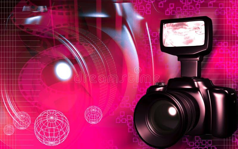 Kamera mit Taschenlampe vektor abbildung