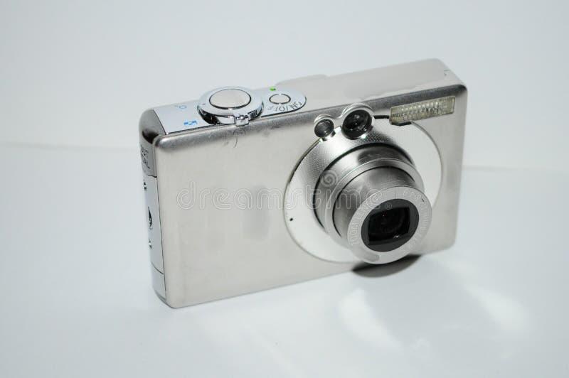 Kamera na białym tle zdjęcie royalty free