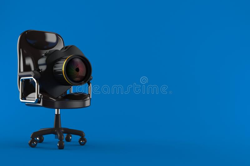 Kamera na biznesowym krze?le royalty ilustracja