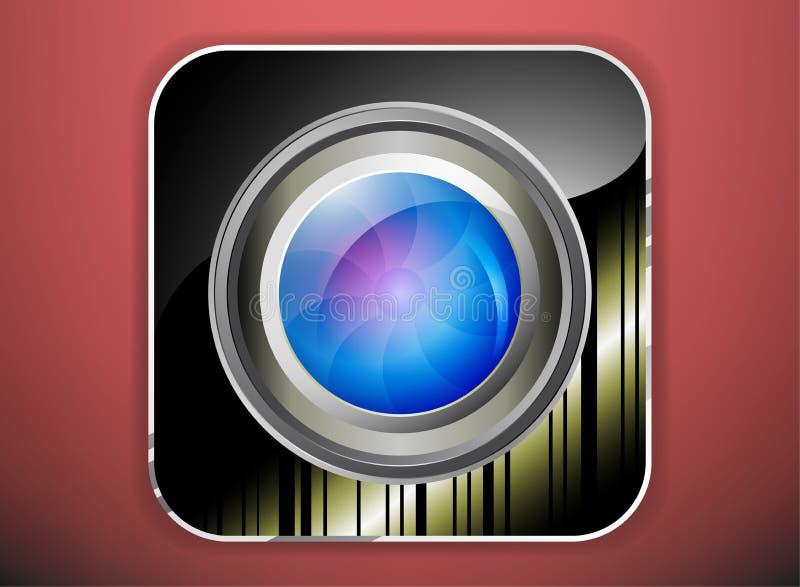 Kamera obiektyw ilustracji