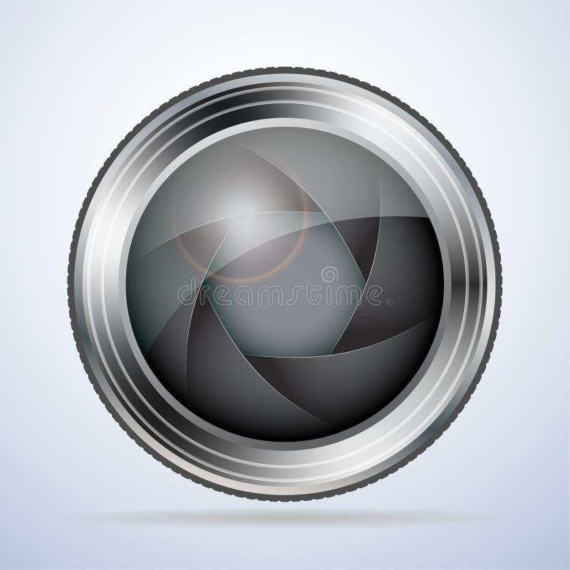 Kamera obiektyw z aperturą ilustracji