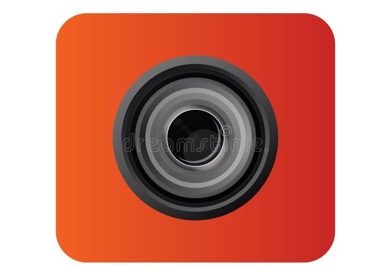 Kamera obiektywu ikona dla szablonu obraz royalty free