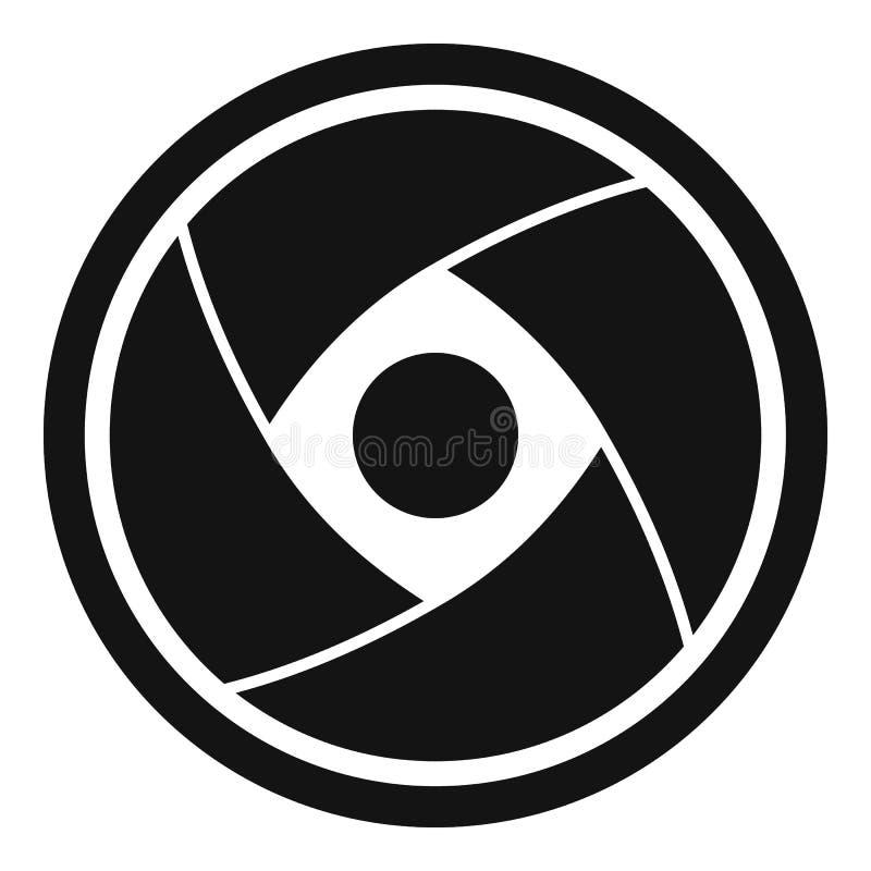 Kamera obiektywu ikona, prosty styl ilustracja wektor