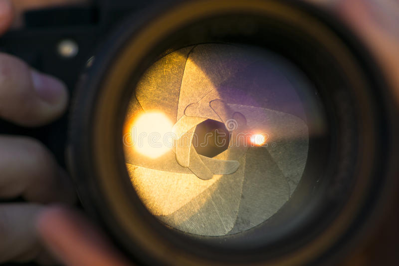 Kamera obiektywu ostrza zdjęcie royalty free