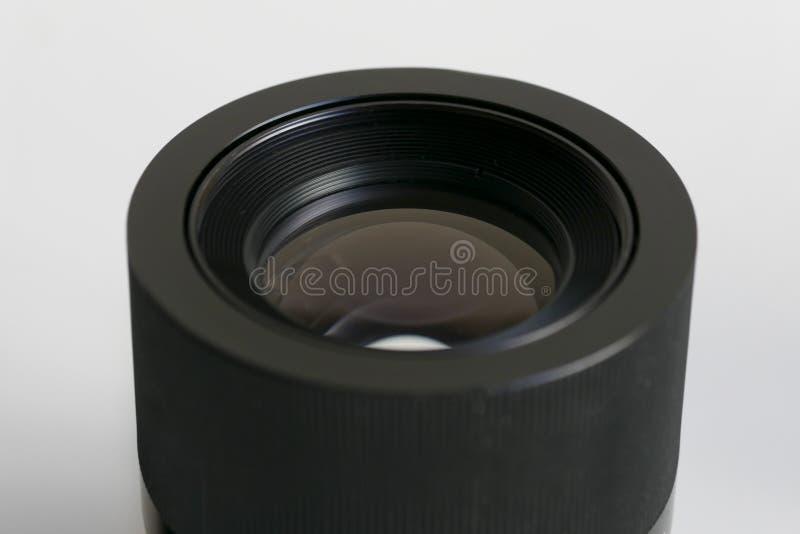 Kamera obiektywu przodu elementu szczegółu zakończenie up obraz royalty free