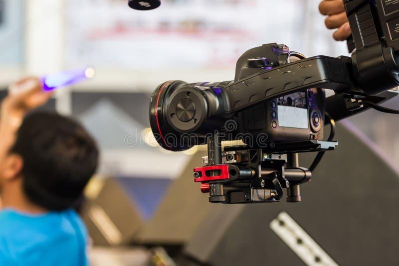 Kamera och begrepp för händelse för bildstabilisator videopn fotografering för bildbyråer