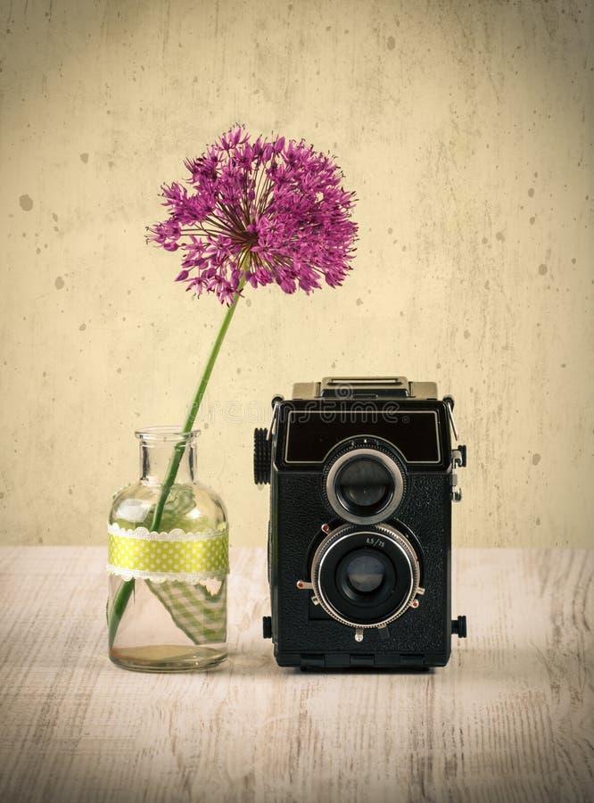 kamera odizolowywająca nad rangefinder rocznika biel fotografia royalty free