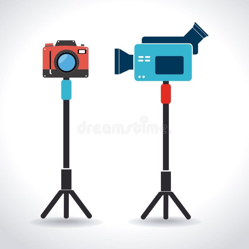 Kamera projekt ilustracja wektor