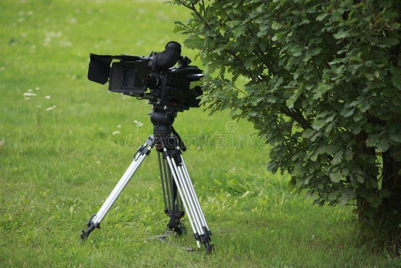 Kamera przy natura krajobrazem obrazy stock