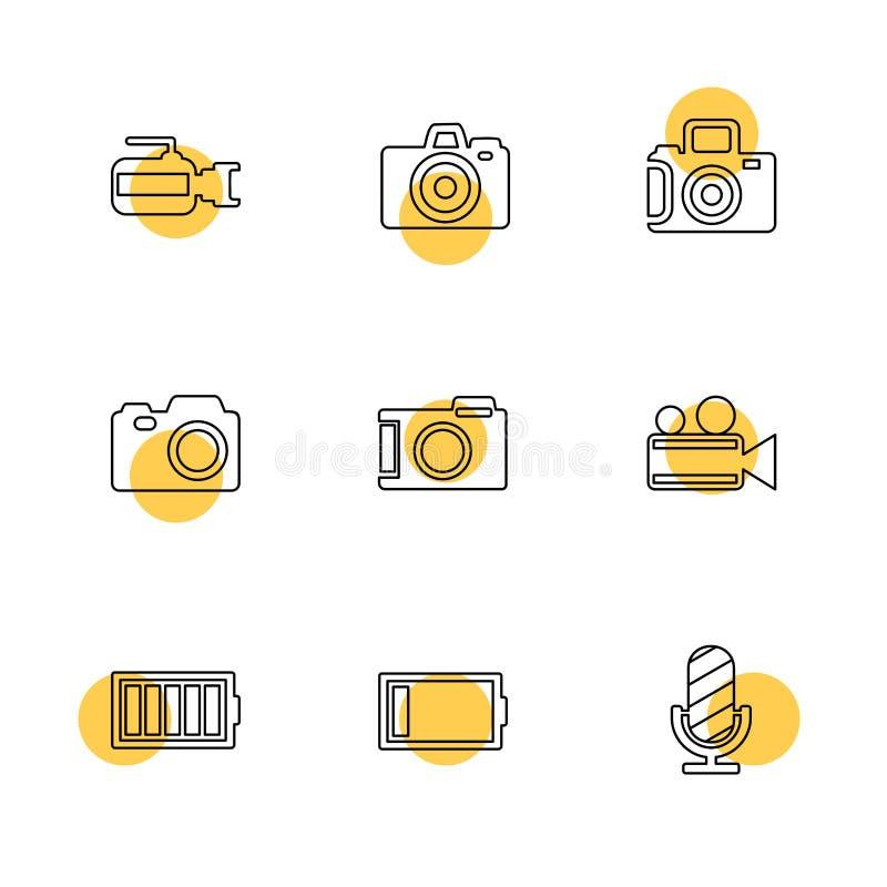 Kamera registreringsapparat, tillfångatagande, klick, fotografi, fotografi royaltyfri illustrationer