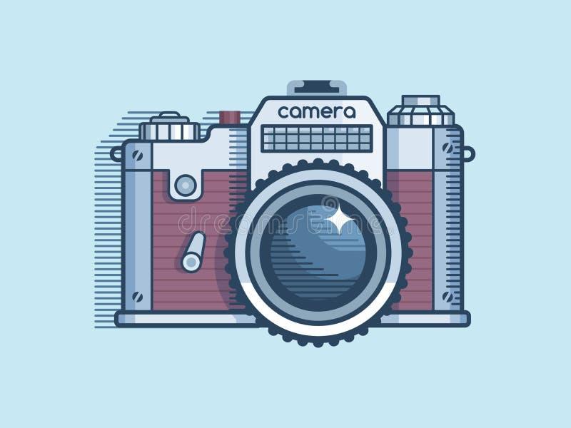 Kamera retro płaski projekt royalty ilustracja
