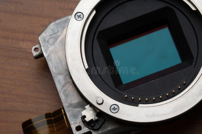 Kamera-Sensor und geliehener Berg lizenzfreie stockbilder