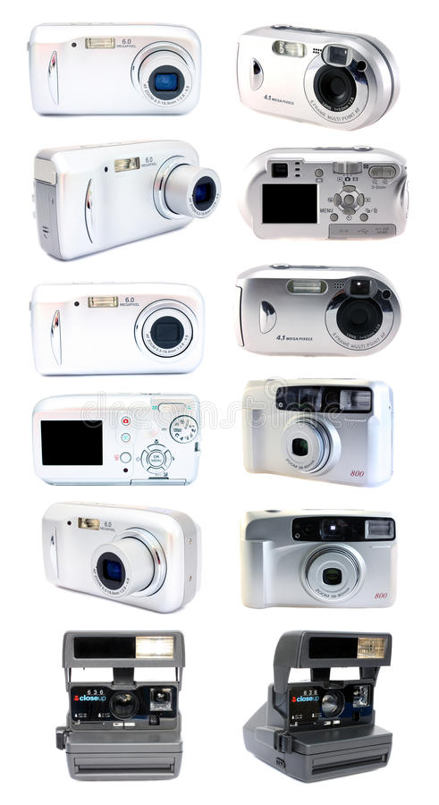 kamera set cyfrowy ekranowy zdjęcie stock