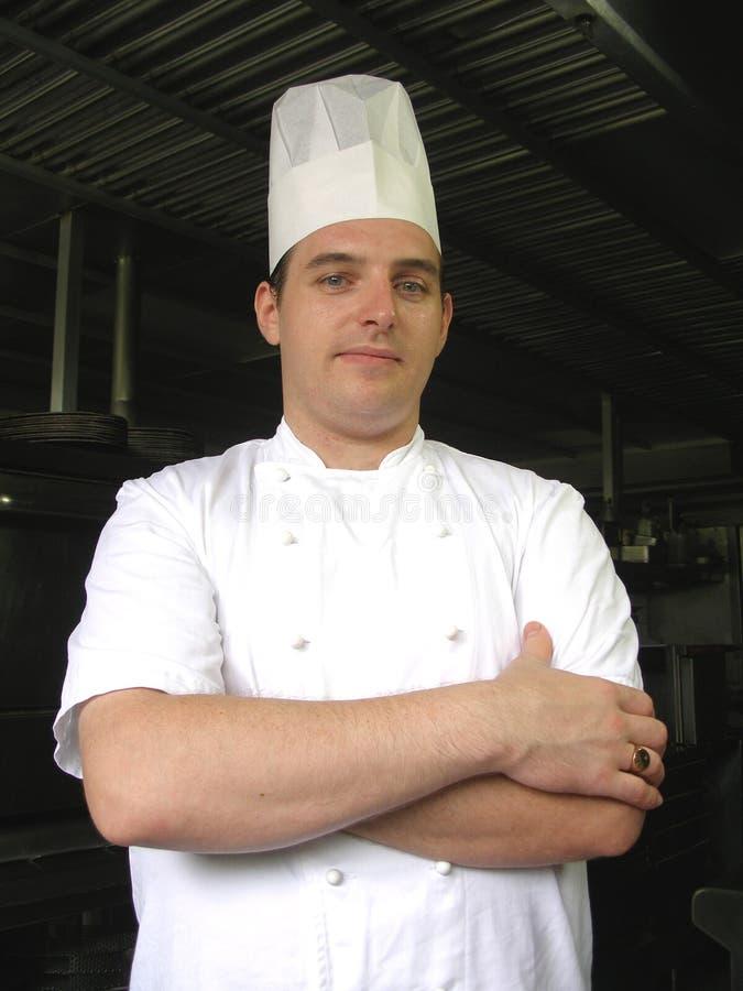 kamera stanowić szefa kuchni obrazy royalty free