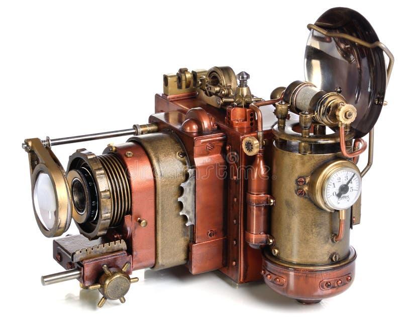 Kamera steampunk lizenzfreie stockfotos