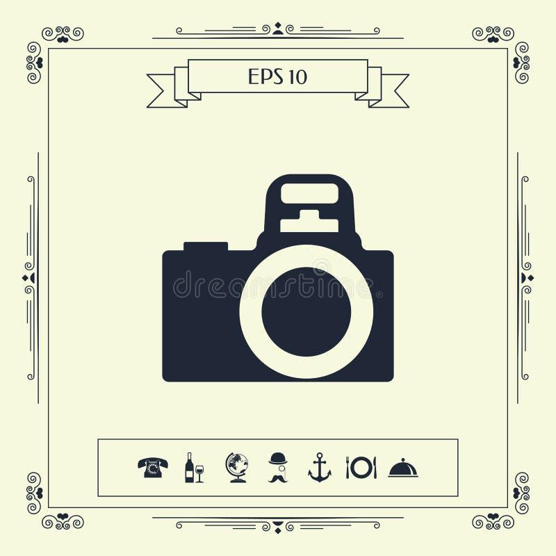 Kamera symbolu ikona royalty ilustracja