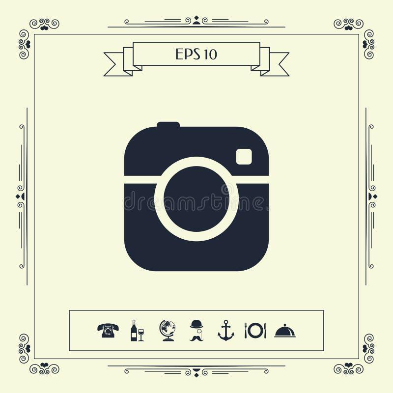 Kamera symbolu ikona ilustracja wektor