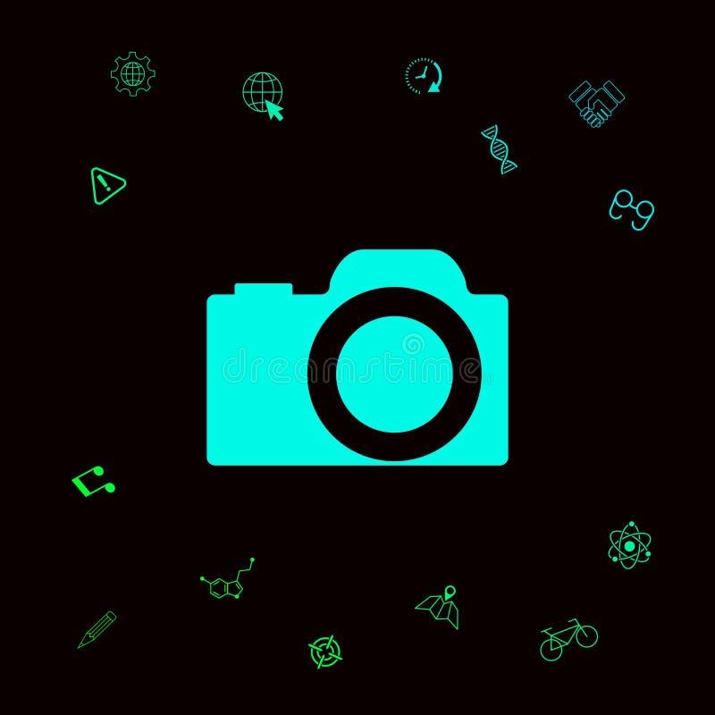Kamera symbolu ikona ilustracji