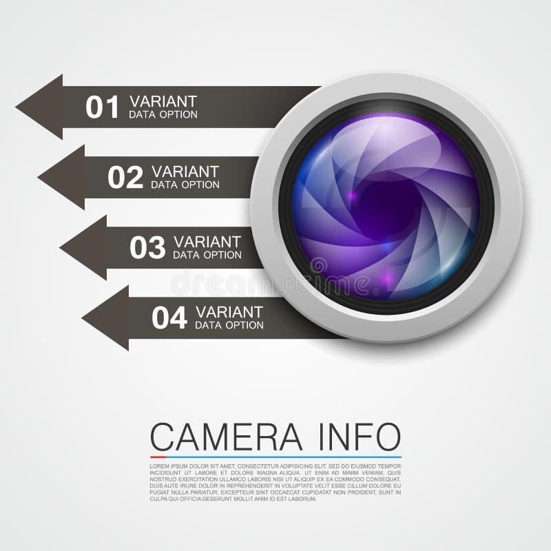 Kamera sztandaru ewidencyjna sztuka kreatywnie royalty ilustracja