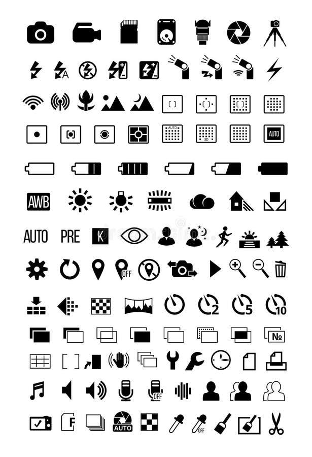 Kamera trybu ikony ilustracja wektor