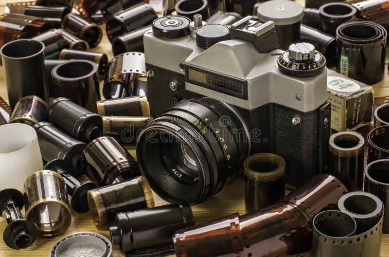 Kamera und Filme stockbilder