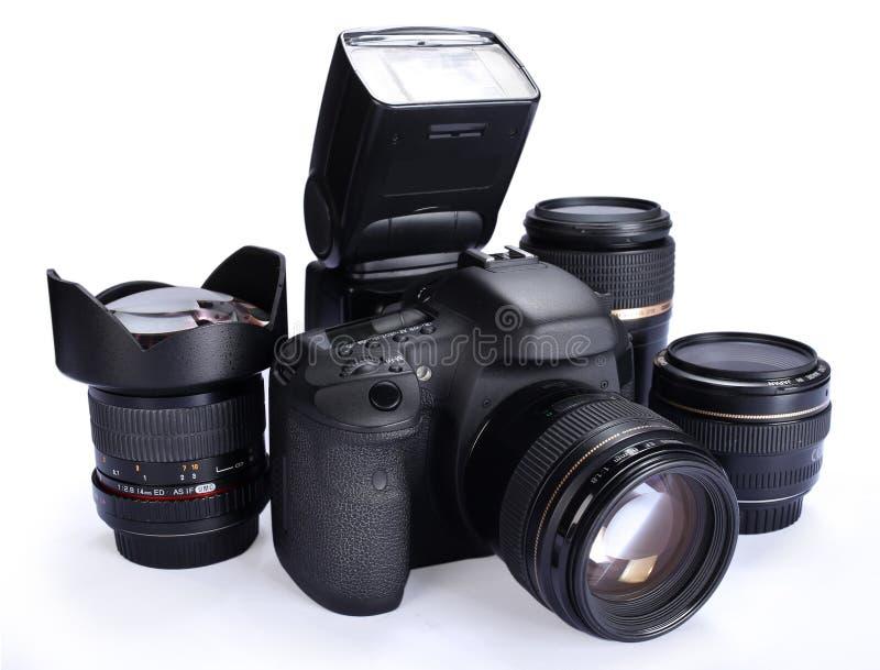 Kamera und Linsen stockbilder