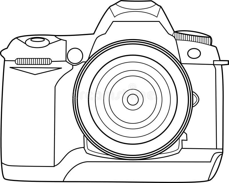 Kamera-vektorumreiß stockfotografie