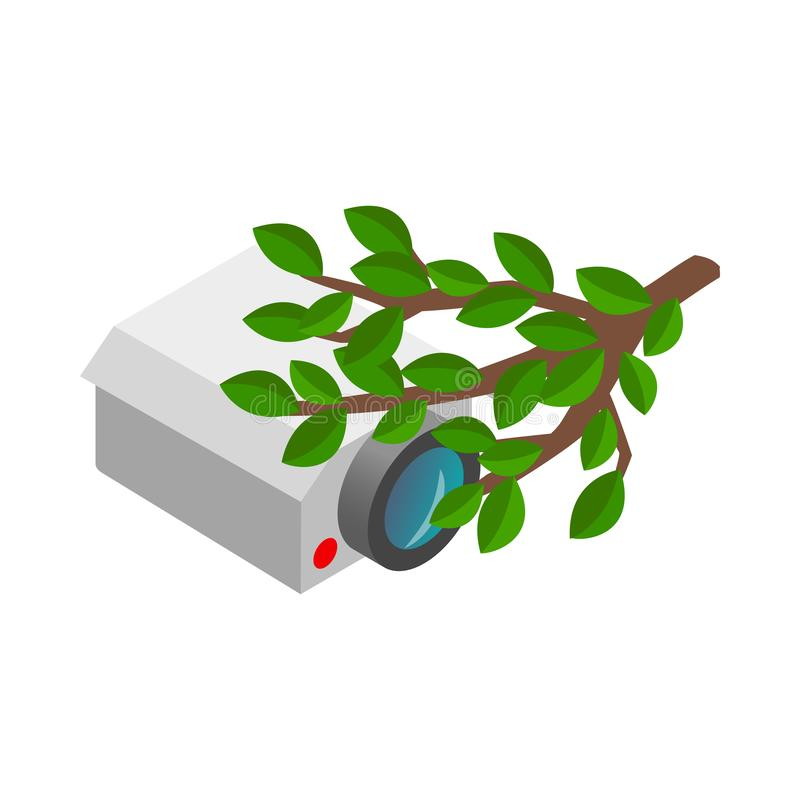 Kamera versteckt in der Buschikone stock abbildung