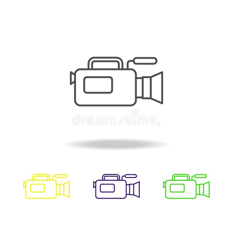 Kamera von mehrfarbigen Ikonen des Journalismus Element von Journalismus für bewegliche Konzept und Netz Appsillustration Kann fü vektor abbildung