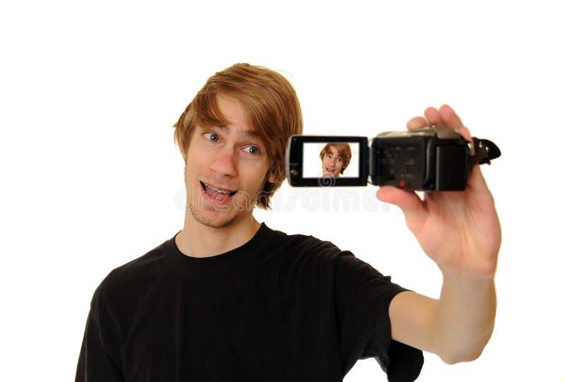 kamera wideo hd mężczyzna zdjęcie stock