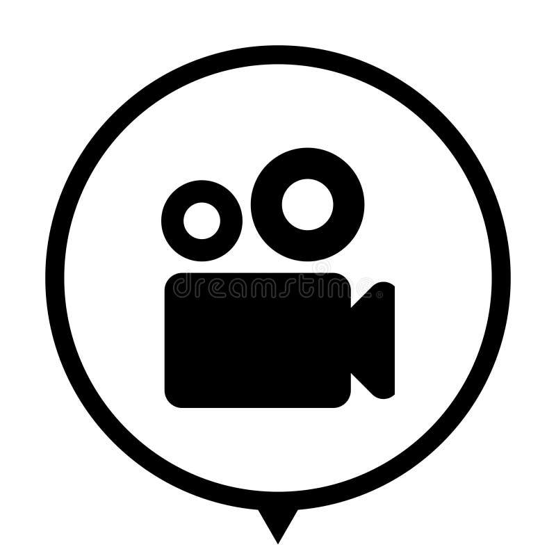 Kamera wideo - ikona dla sieć projekta royalty ilustracja